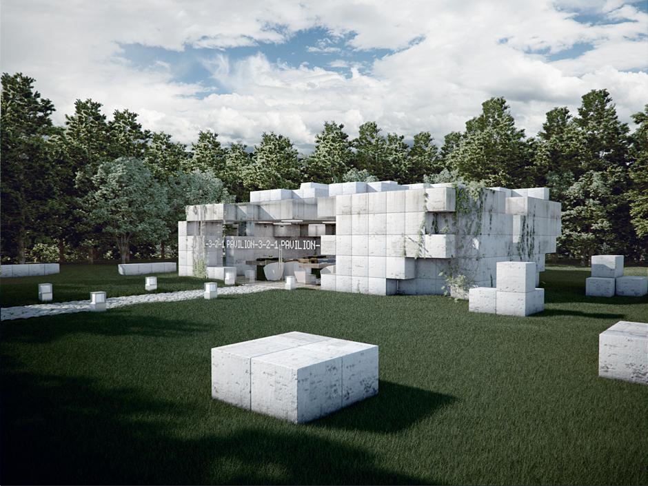 Envisage 3d architecture for Pavilion concept architecture